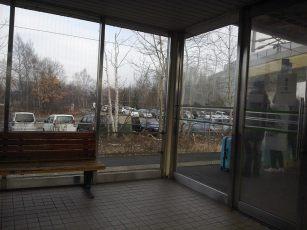 waiting to change train